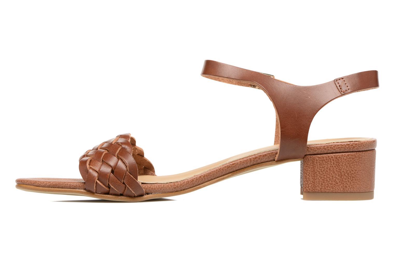 Sandalen Georgia Rose Loutresse braun ansicht von vorne