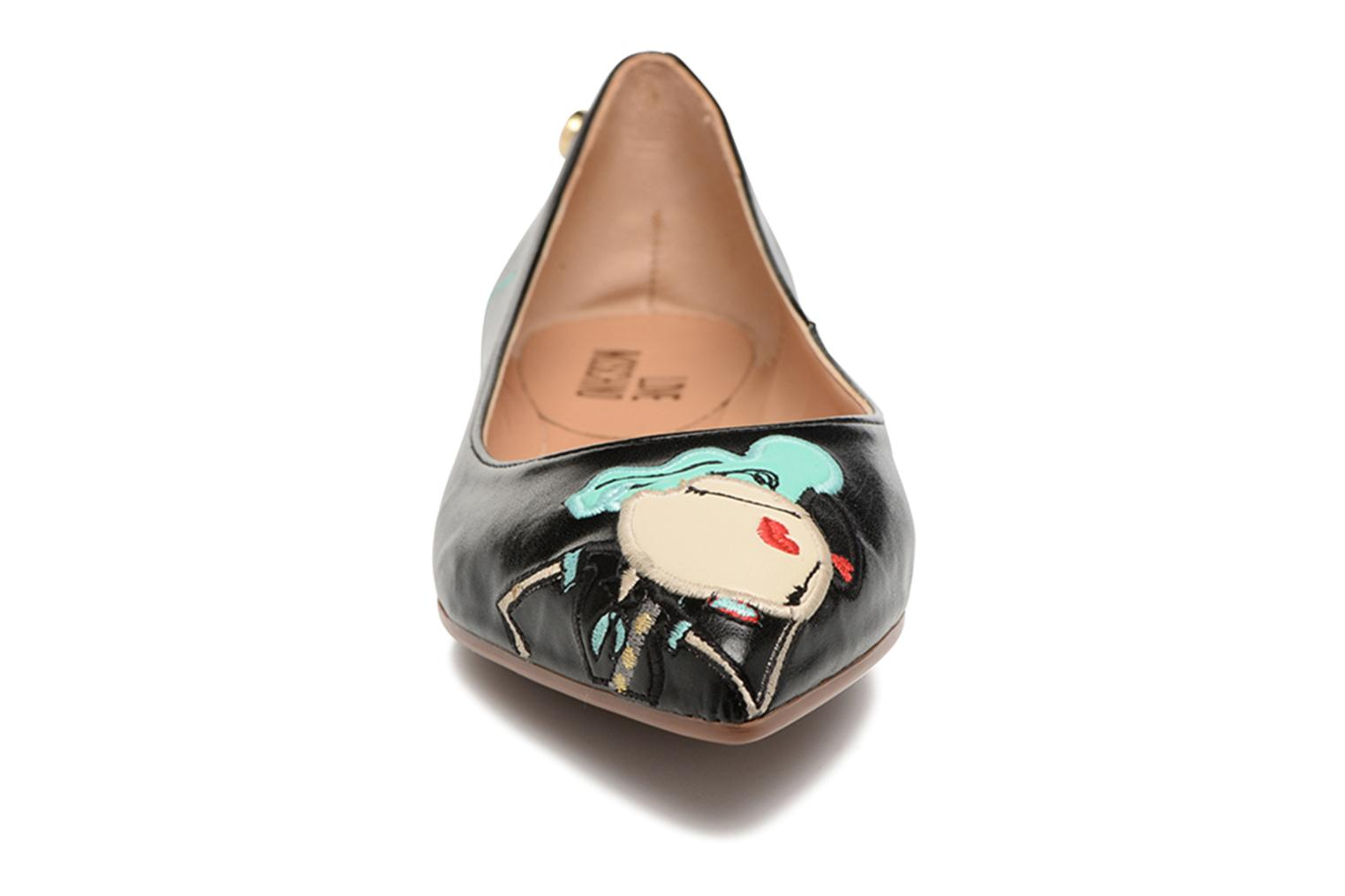 Ballerines Love Moschino Baila Rouge vue portées chaussures