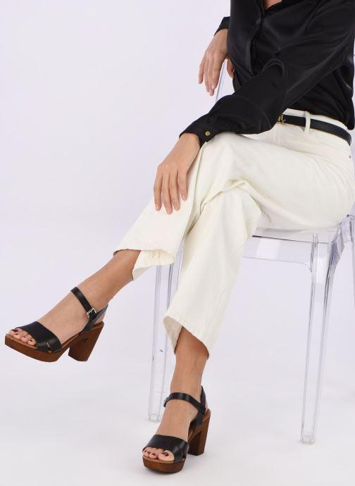 Sandales et nu-pieds Georgia Rose Dobou Noir vue bas / vue portée sac