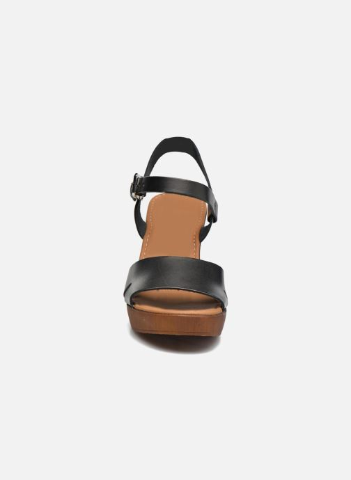 Sandales et nu-pieds Georgia Rose Dobou Noir vue portées chaussures