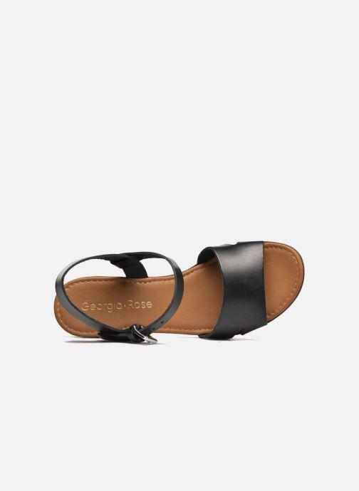 Sandales et nu-pieds Georgia Rose Dobou Noir vue gauche