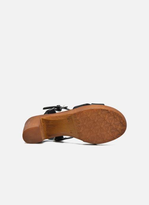 Sandales et nu-pieds Georgia Rose Dobou Noir vue haut
