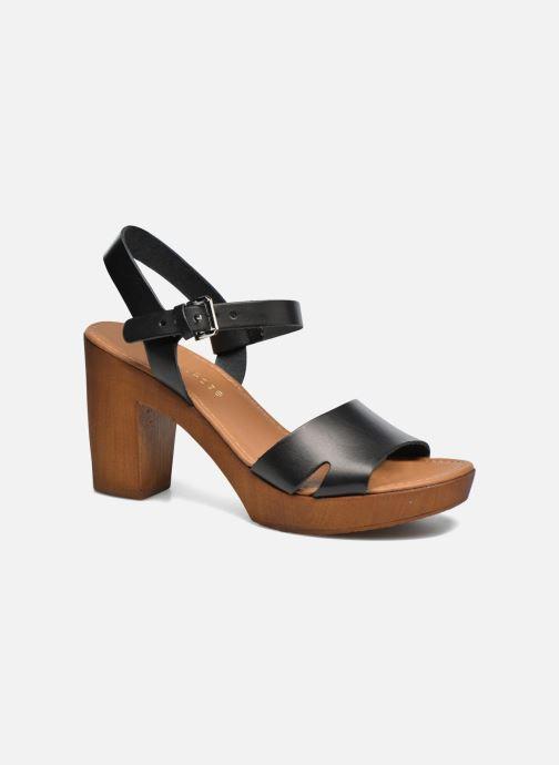 Sandales et nu-pieds Georgia Rose Dobou Noir vue détail/paire