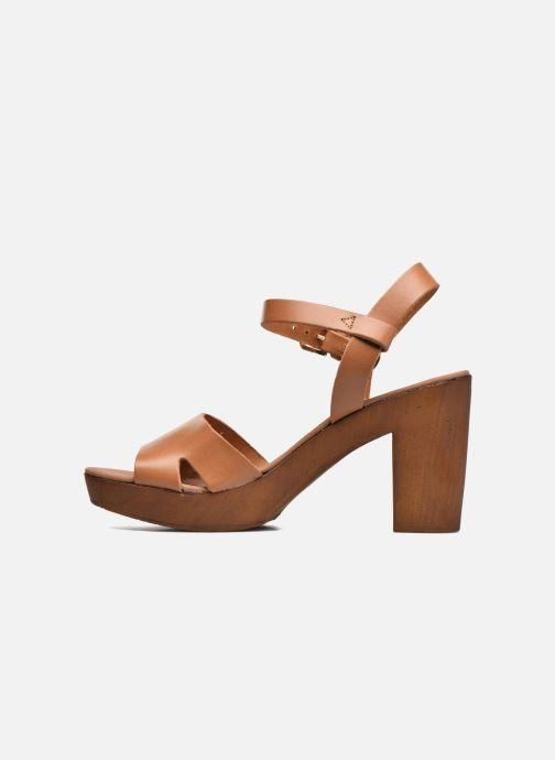 Sandales et nu-pieds Georgia Rose Dobou Marron vue face