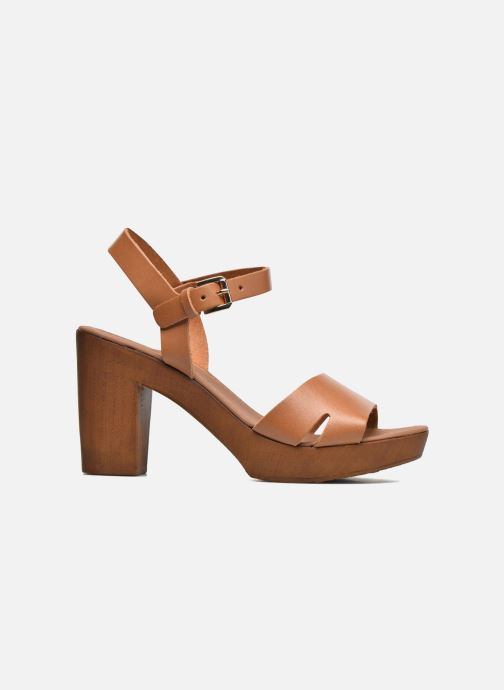Sandales et nu-pieds Georgia Rose Dobou Marron vue derrière