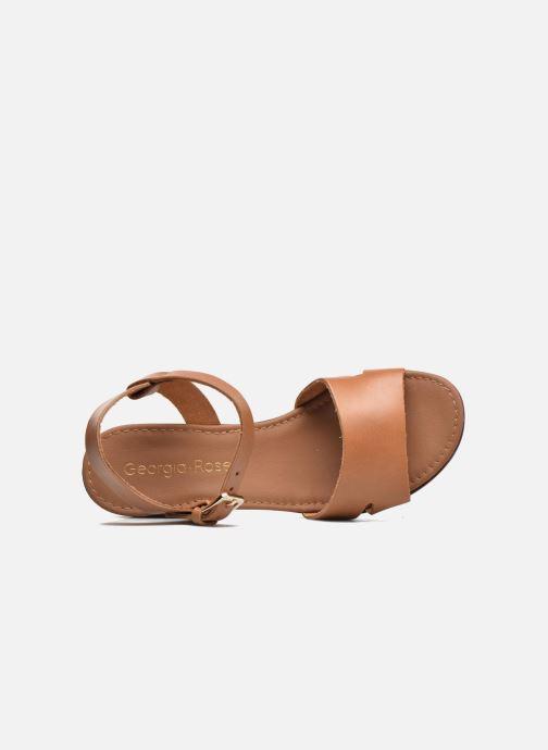 Sandales et nu-pieds Georgia Rose Dobou Marron vue gauche