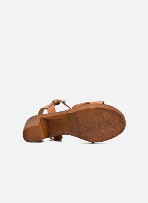 Sandales et nu-pieds Georgia Rose Dobou Marron vue haut