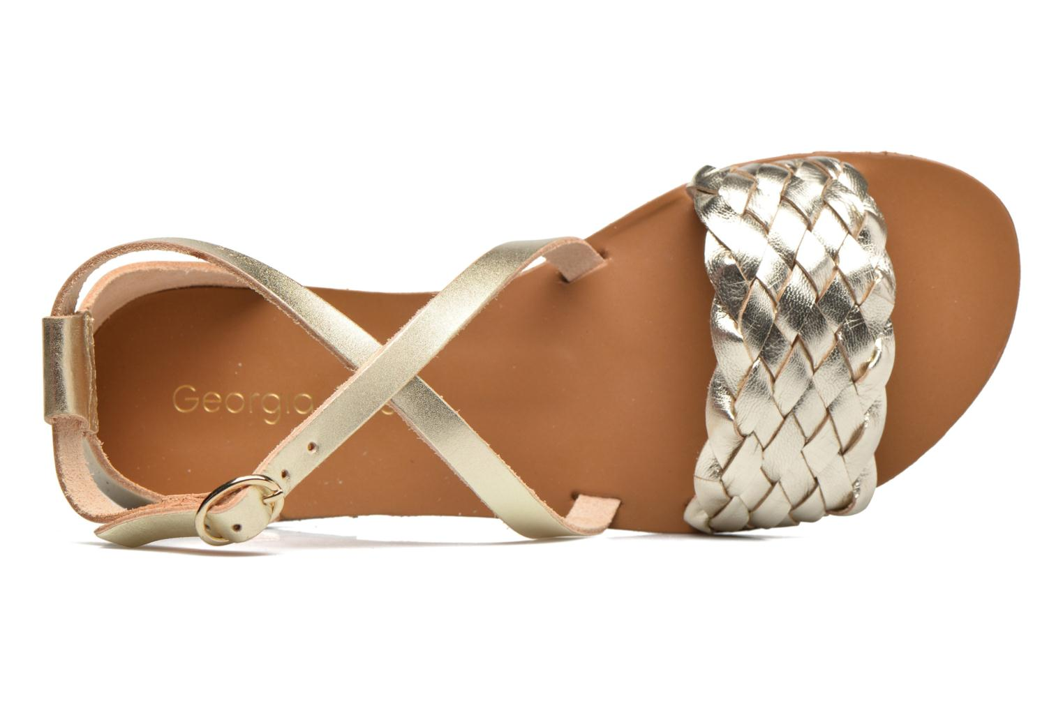 Sandalen Georgia Rose Dotresse Goud en brons links