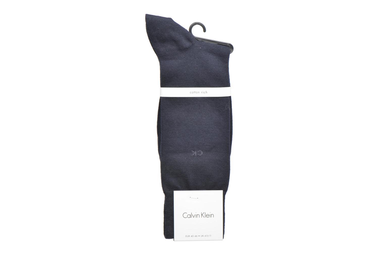 Socks & tights Calvin Klein Chaussettes ESSENTIAL 14 GAUGE Coton Blue back view