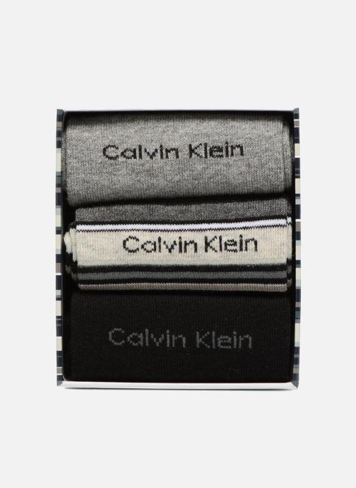 Socks & tights Calvin Klein Chaussettes MUTI STRIPE GIFT BOX Pack de 3 Coton Multicolor model view
