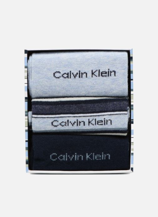 Socks & tights Calvin Klein Chaussettes MUTI STRIPE GIFT BOX Pack de 3 Coton Blue model view