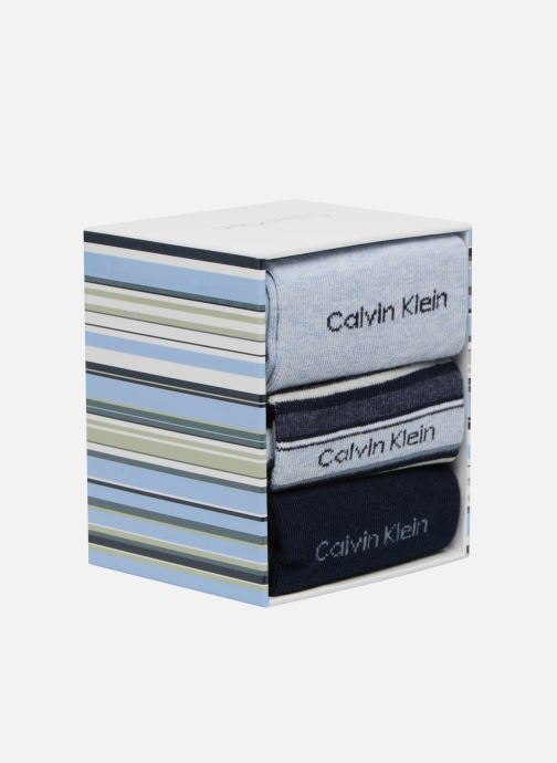 Chaussettes et collants Calvin Klein Chaussettes MUTI STRIPE GIFT BOX Pack de 3 Coton Bleu vue face