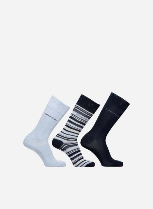 Socks & tights Calvin Klein Chaussettes MUTI STRIPE GIFT BOX Pack de 3 Coton Blue detailed view/ Pair view