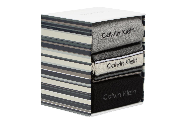 Socks & tights Calvin Klein Chaussettes MUTI STRIPE GIFT BOX Pack de 3 Coton Multicolor front view