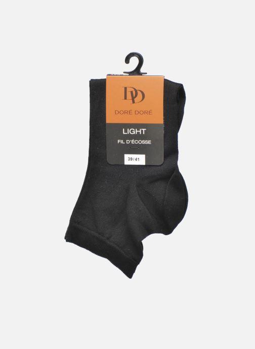 Chaussettes et collants Doré Doré Chaussettes Socquettes Maille Unie E-day Noir vue derrière