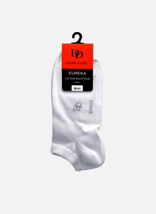 Socks & tights Doré Doré Chaussettes Sneakers Maille Unie E-day White back view