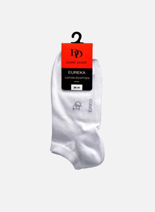 Chaussettes et collants Doré Doré Chaussettes Sneakers Maille Unie E-day Blanc vue derrière