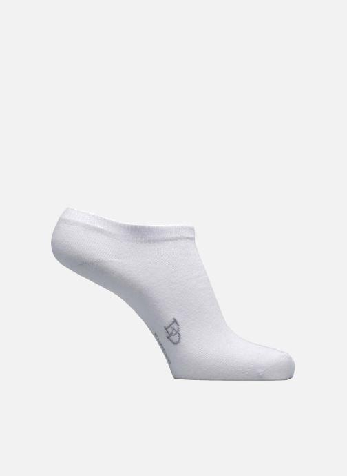 Sokken en panty's Doré Doré Chaussettes Sneakers Maille Unie E-day Wit detail