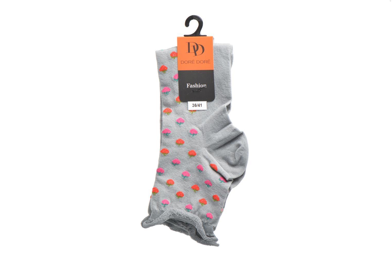 Sokken en panty's Doré Doré Chaussettes Socquettes Fraises Grijs achterkant