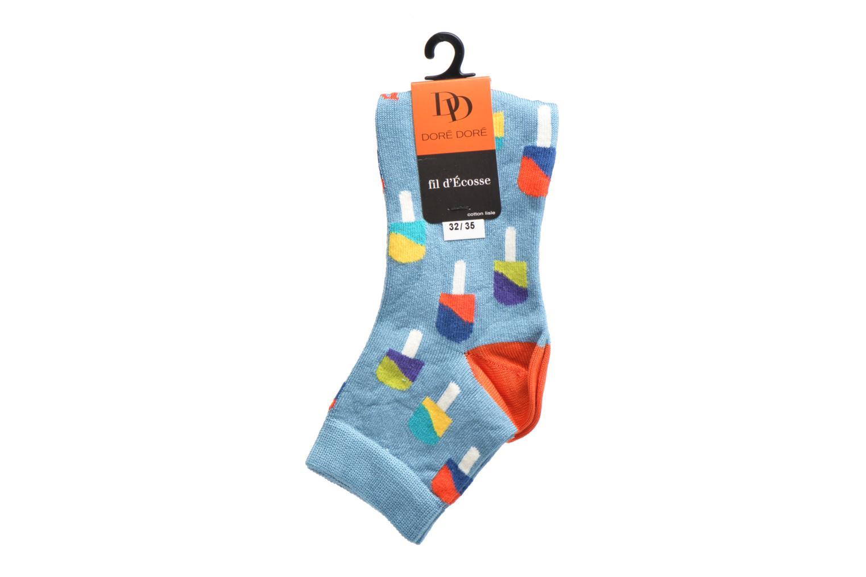 Socks & tights Doré Doré Chaussettes Socquettes Glace Blue back view