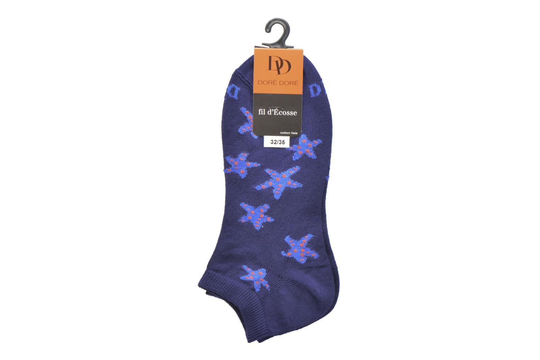 Socks & tights Doré Doré Chaussettes Sneakers Etoiles Blue back view