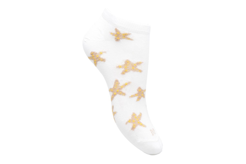 Chaussettes et collants Doré Doré Chaussettes Sneakers Etoiles Blanc vue détail/paire