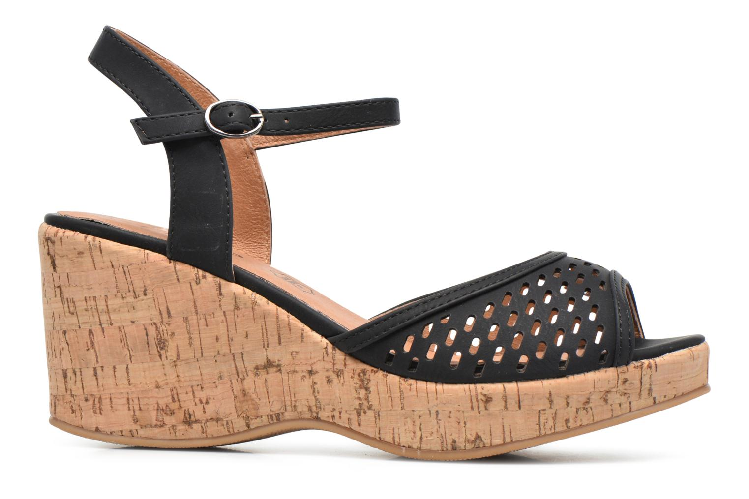 Sandals Les P'tites Bombes Etoile Black back view