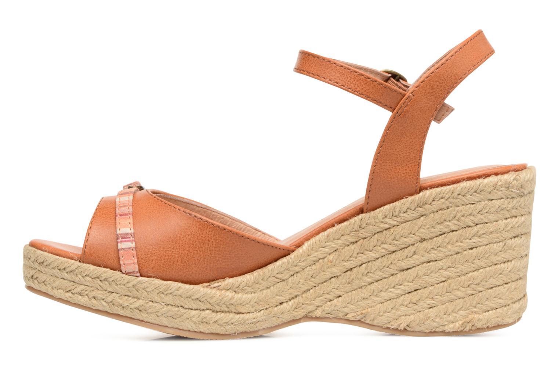 Sandales et nu-pieds Les P'tites Bombes Penelope Marron vue face