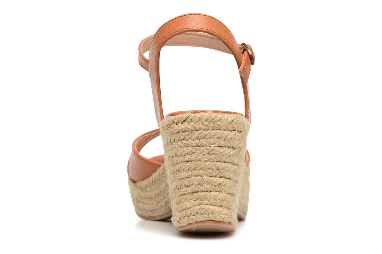 Sandales et nu-pieds Les P'tites Bombes Penelope Marron vue droite