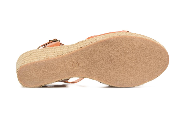 Sandales et nu-pieds Les P'tites Bombes Penelope Marron vue haut
