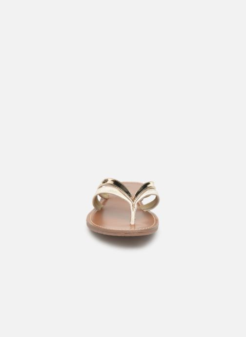 Tongs Les P'tites Bombes KALINDA Or et bronze vue portées chaussures