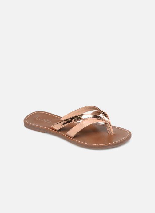 Flip flops & klipklapper Les P'tites Bombes KALINDA Guld og bronze detaljeret billede af skoene