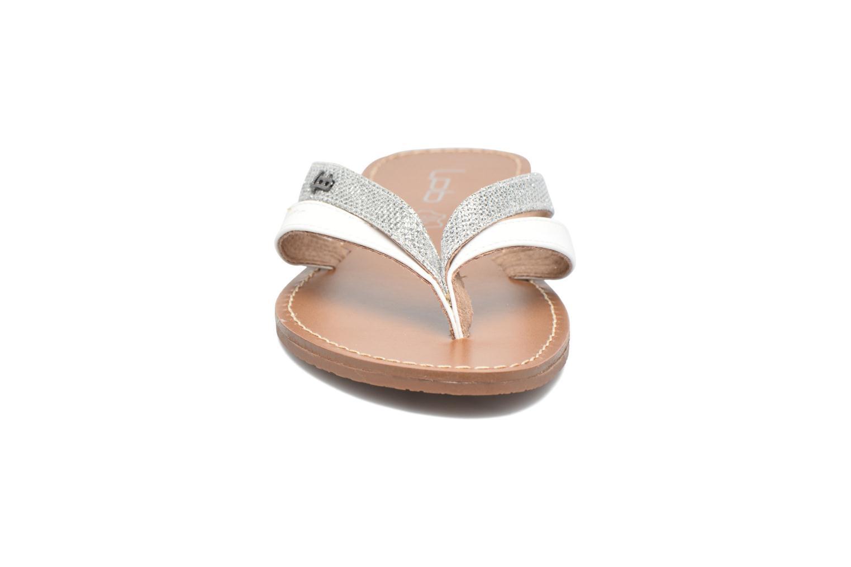 Flip flops Les P'tites Bombes Kalinda F Silver model view