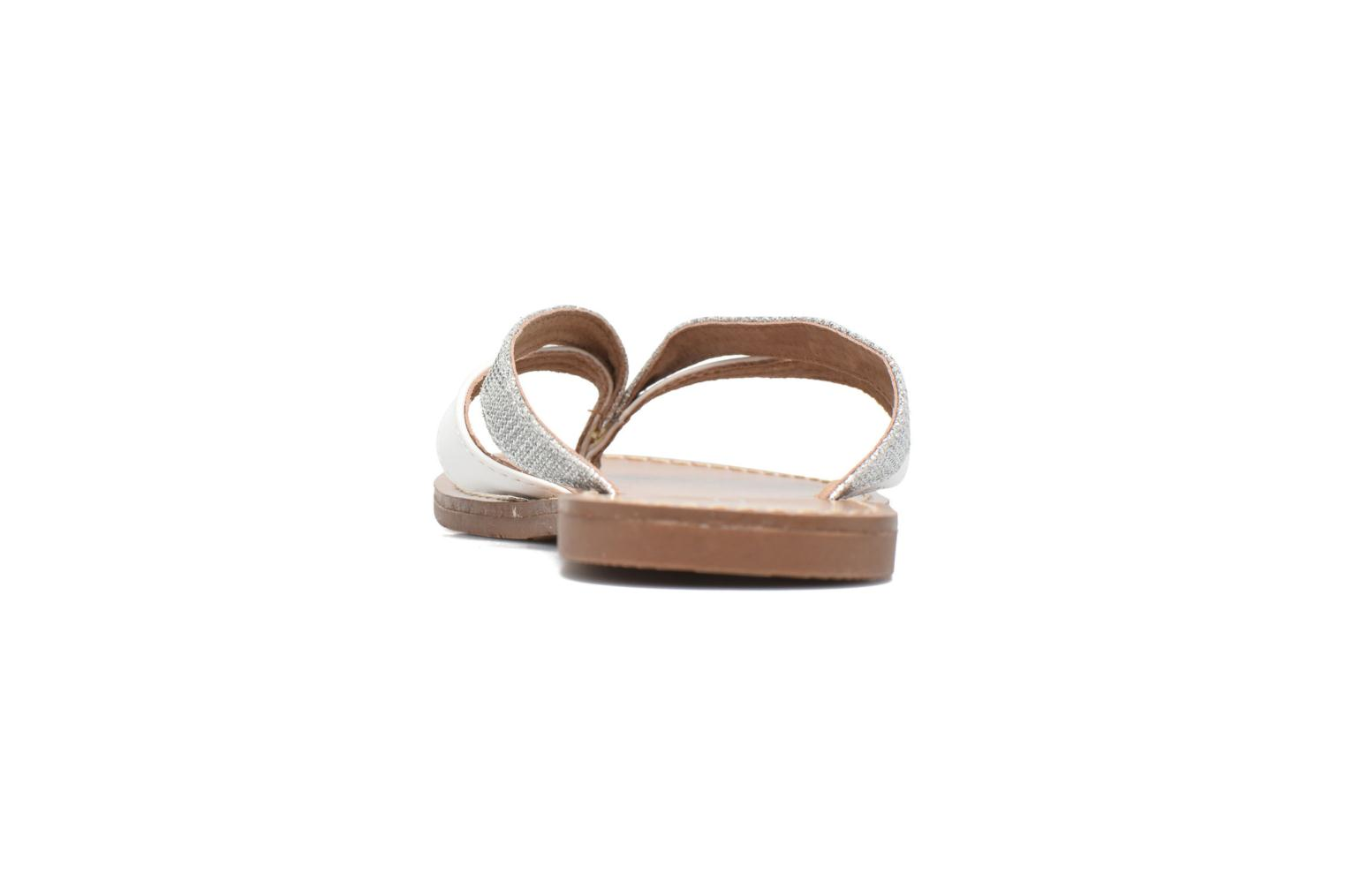 Flip flops Les P'tites Bombes Kalinda F Silver view from the right