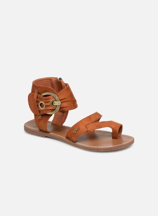 Sandales et nu-pieds Les P'tites Bombes PENSEE Marron vue détail/paire
