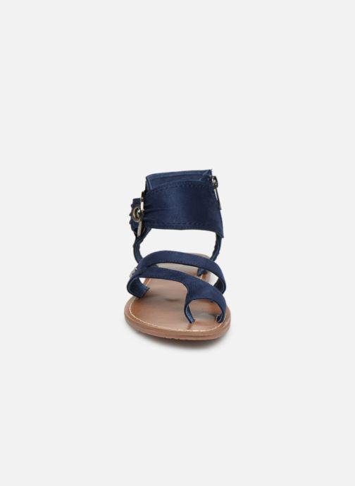 Sandales et nu-pieds Les P'tites Bombes PENSEE Bleu vue portées chaussures