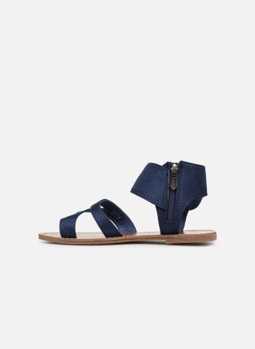 Sandales et nu-pieds Les P'tites Bombes PENSEE Bleu vue face