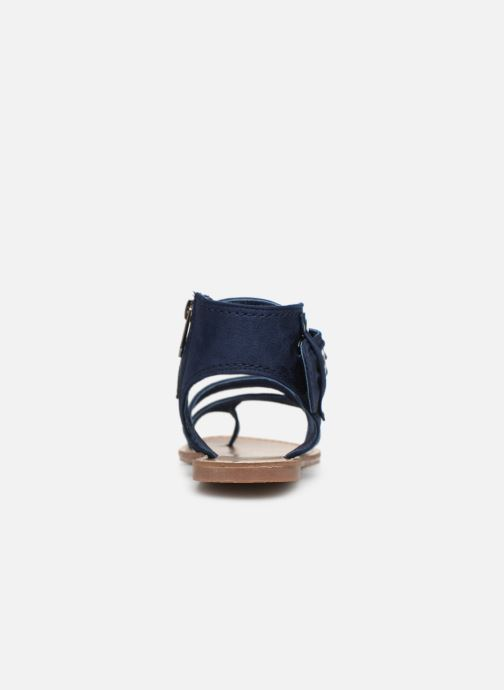 Sandales et nu-pieds Les P'tites Bombes PENSEE Bleu vue droite