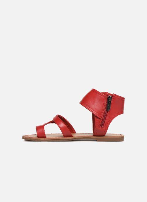 Sandales et nu-pieds Les P'tites Bombes PENSEE Rouge vue face