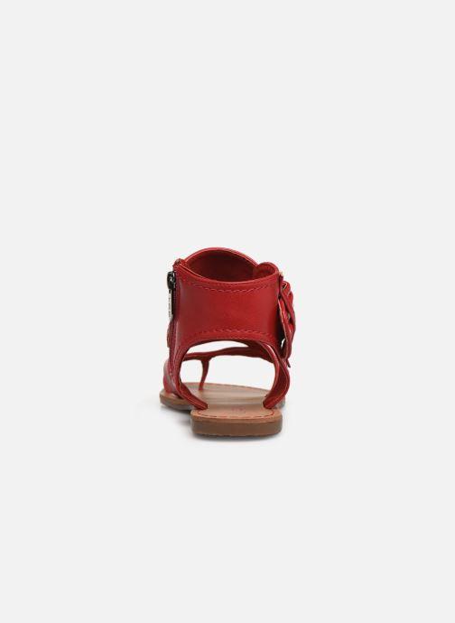 Sandales et nu-pieds Les P'tites Bombes PENSEE Rouge vue droite