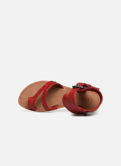 Sandales et nu-pieds Les P'tites Bombes PENSEE Rouge vue gauche