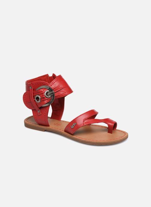 Sandales et nu-pieds Les P'tites Bombes PENSEE Rouge vue détail/paire