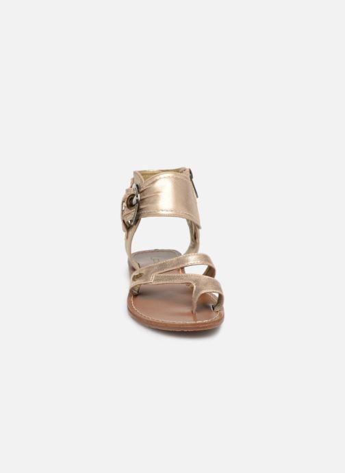 Sandales et nu-pieds Les P'tites Bombes PENSEE Or et bronze vue portées chaussures