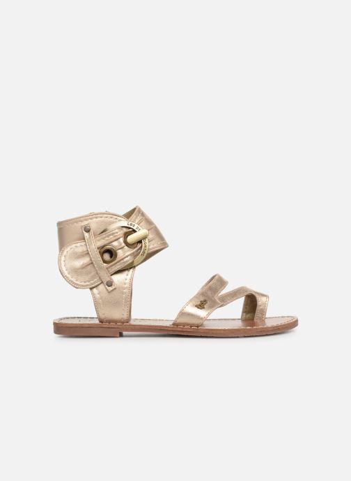 Sandales et nu-pieds Les P'tites Bombes PENSEE Or et bronze vue derrière