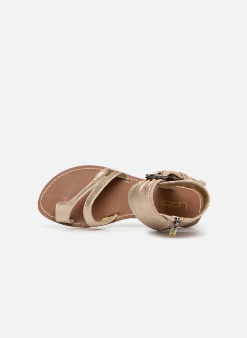 Sandales et nu-pieds Les P'tites Bombes PENSEE Or et bronze vue gauche
