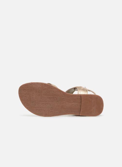 Sandales et nu-pieds Les P'tites Bombes PENSEE Or et bronze vue haut