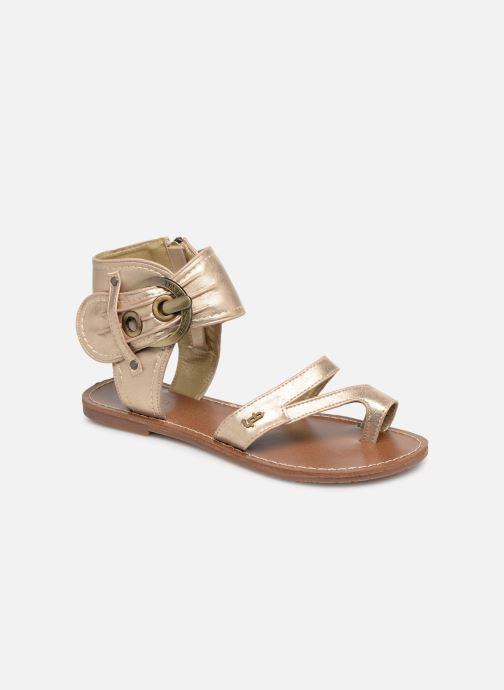 Sandales et nu-pieds Les P'tites Bombes PENSEE Or et bronze vue détail/paire