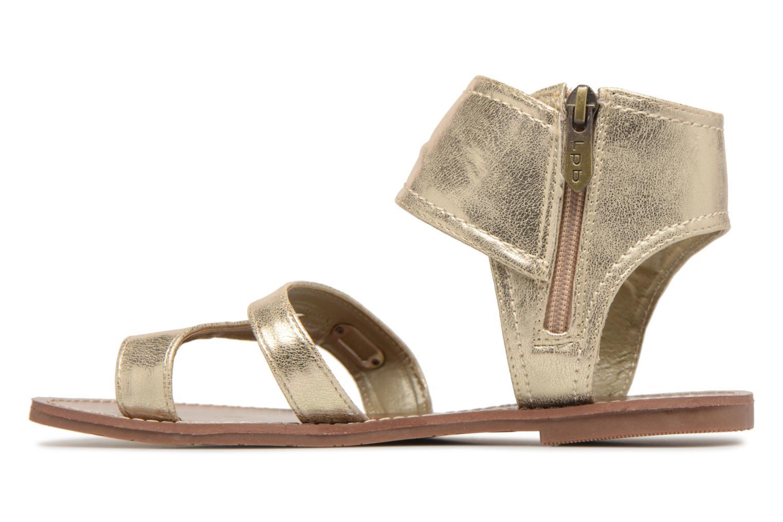 Sandales et nu-pieds Les P'tites Bombes Pensee Or et bronze vue face
