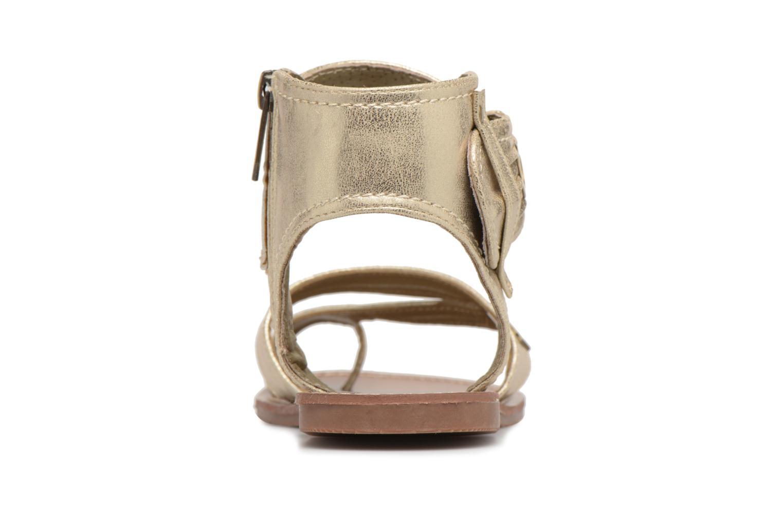Sandales et nu-pieds Les P'tites Bombes Pensee Or et bronze vue droite