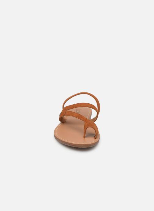 Sandales et nu-pieds Les P'tites Bombes TEXANE Marron vue portées chaussures